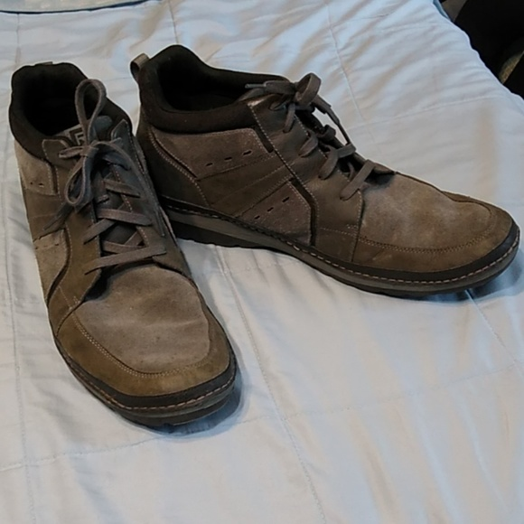Rockport Other - Mens Rockport Casual Shoes Leather Gray Size 16 M
